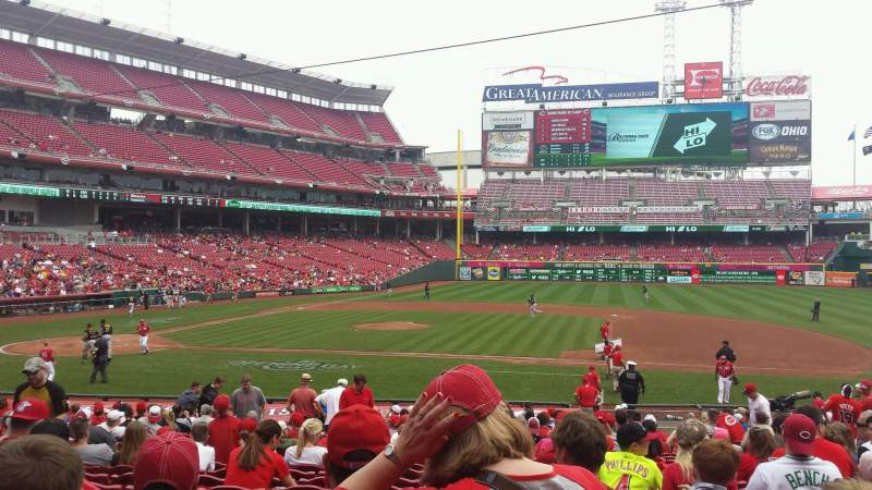Seating view for Great American Ball Park Section 130 Row AA Seat 8