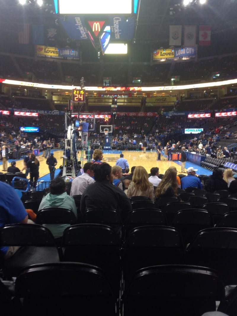 Seating view for Chesapeake Energy Arena Section 120 Row MM Seat 8