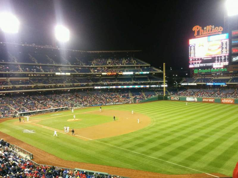 Seating view for Citizens Bank Park Section 209 Row 3 Seat 13