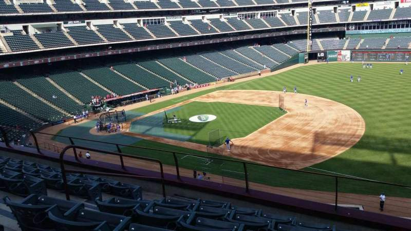 Seating view for Globe Life Park in Arlington Section 236 Row 6 Seat 5