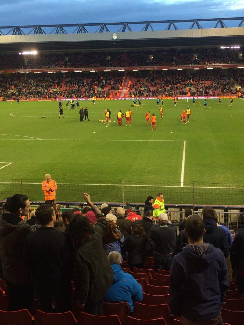 Seating view for Anfield Section Block 105 Row 22