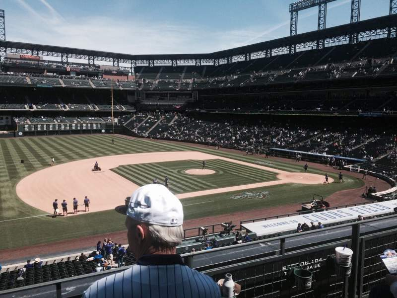 Seating view for Coors Field Section 242 Row 2 Seat 16