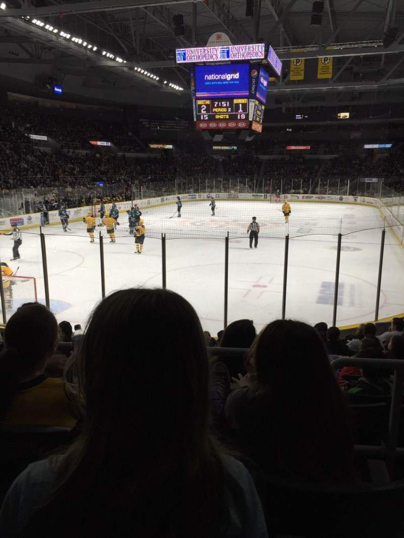 Seating view for Dunkin' Donuts Center Section 114 Row C Seat 2