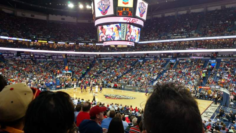 Seating view for Smoothie King Center Section 123 Row 21 Seat 3