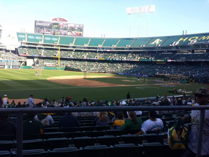 Seating view for Oakland Alameda Coliseum Section 126 Row 22 Seat 8
