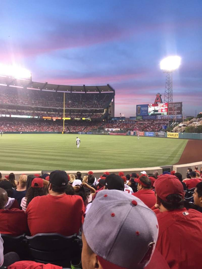Seating view for Angel Stadium Section F134 Row L Seat 4