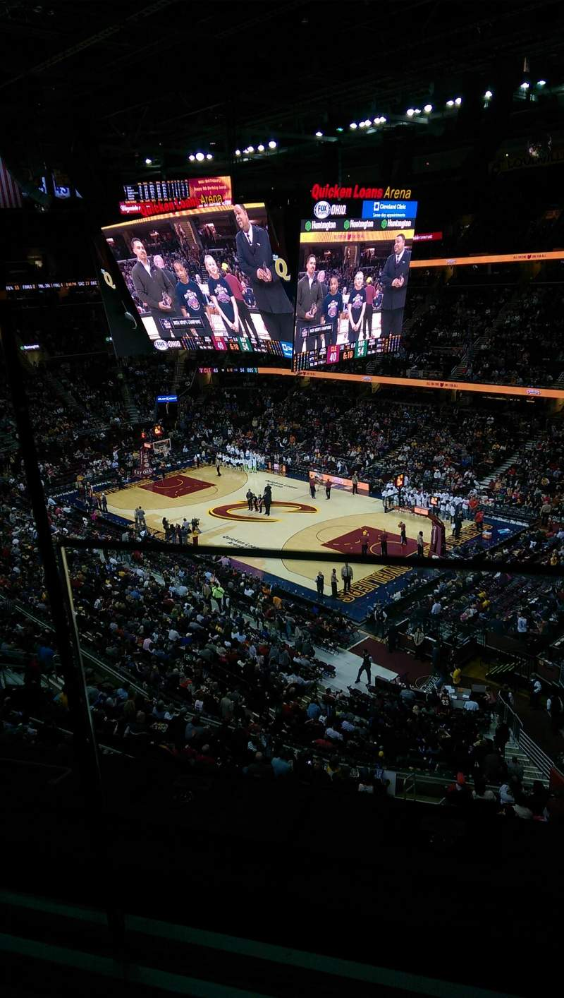 Seating view for Quicken Loans Arena Section 213 Row 1 Seat 1