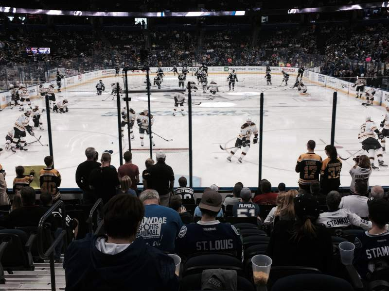 Seating view for Amalie Arena Section 108 Row N Seat 14