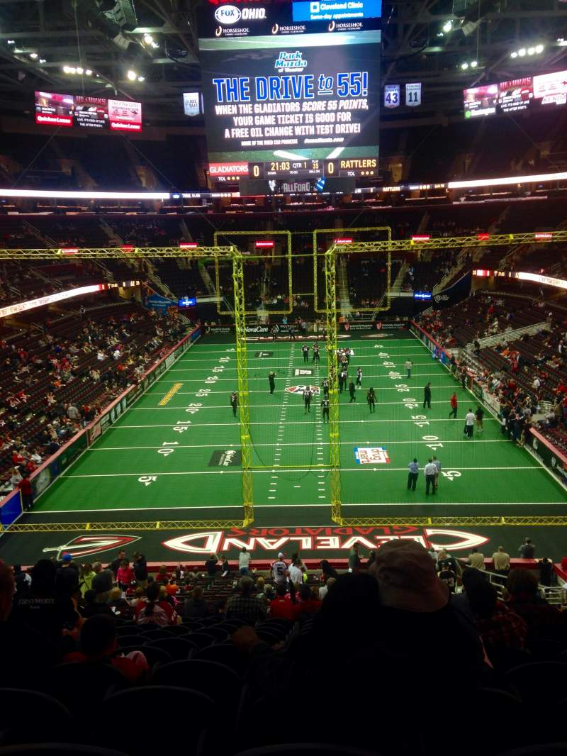Seating view for Quicken Loans Arena Section 117 Row 27 Seat 11