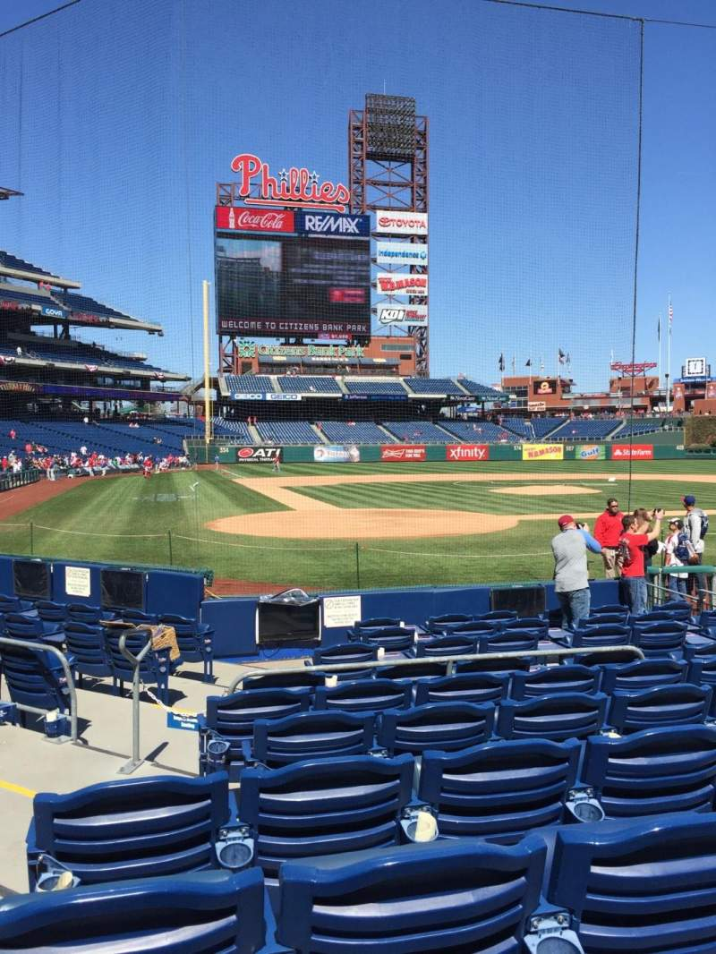 Seating view for Citizens Bank Park Section F Row 10 Seat 7