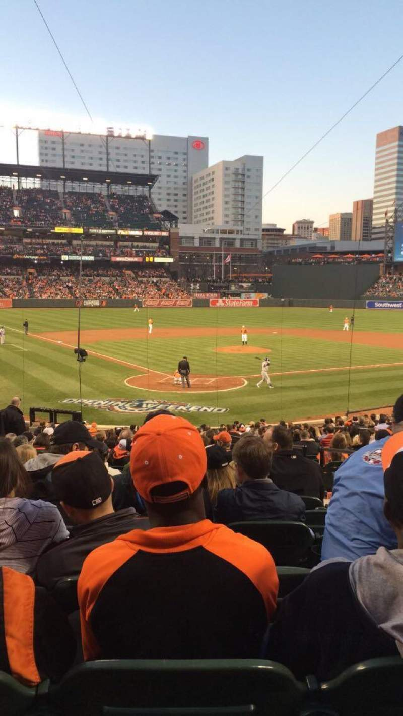 Seating view for Oriole Park at Camden Yards Section 34 Row 28 Seat 4