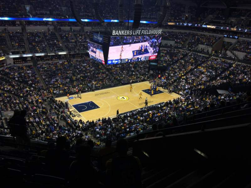 Seating view for Bankers Life Fieldhouse Section 211 Row 8 Seat 5