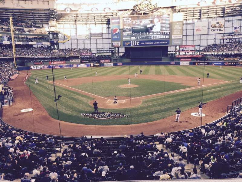 Seating view for Miller Park Section 218 Row 1 Seat 103