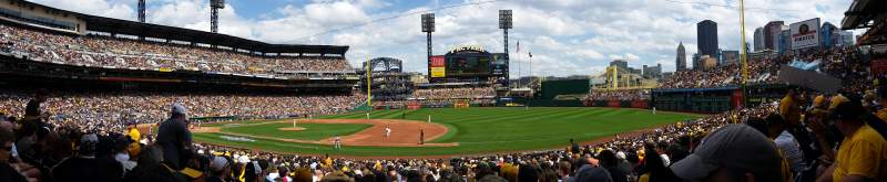 Seating view for PNC Park Section 108 Row R Seat 12
