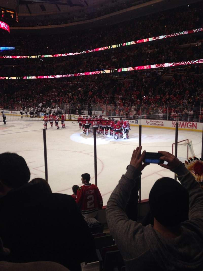 Seating view for United Center Section 108 Row 8 Seat 3