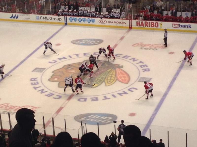 Seating view for United Center Section 316 Row 9 Seat 5