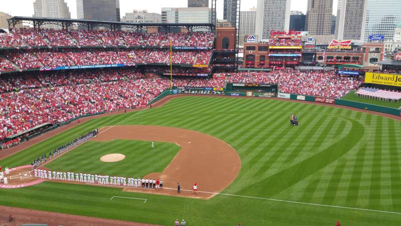 Seating view for Busch Stadium Section 341 Row 5 Seat 6