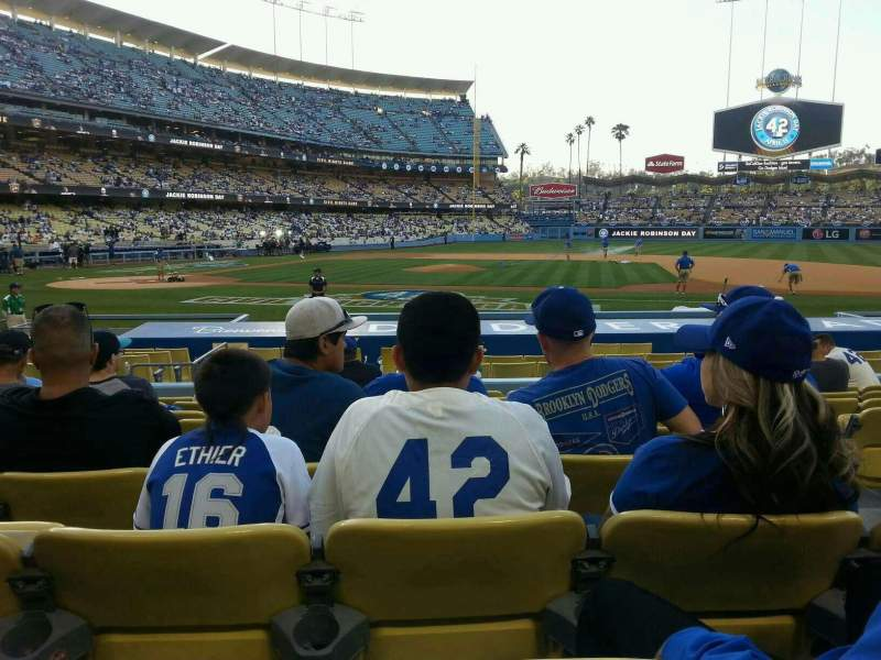 Dodger Stadium, section: 18fd, row: J, seat: 6
