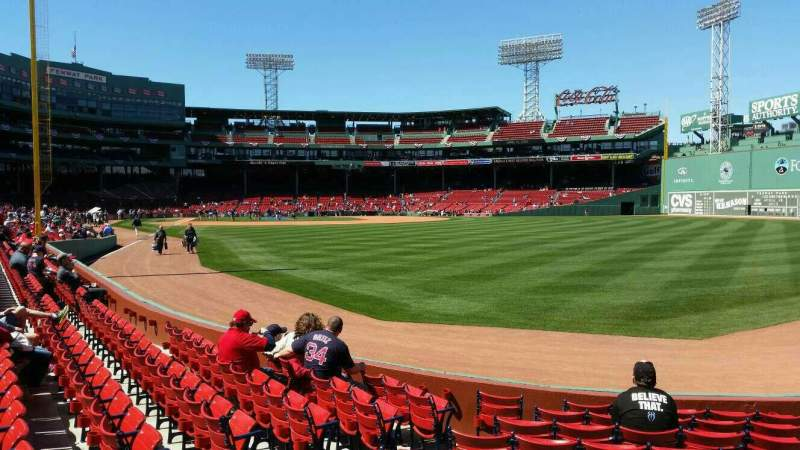 Seating view for Fenway Park Section right field box 2 Row m Seat 19