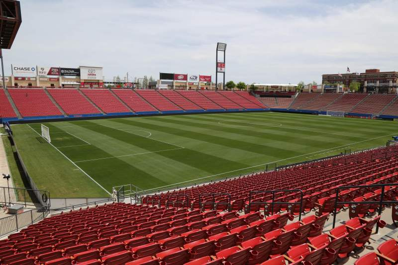 Seating view for Toyota Stadium Section 101 Row 20 Seat 10