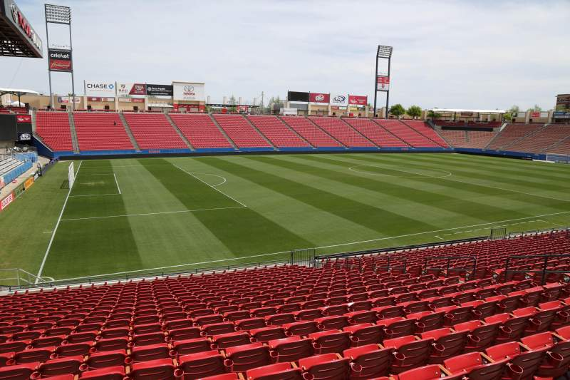 Seating view for Toyota Stadium Section 102 Row 20 Seat 10