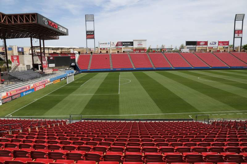 Seating view for Toyota Stadium Section 103 Row 20 Seat 10