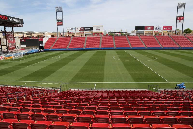 Seating view for Toyota Stadium Section 105 Row 20 Seat 10
