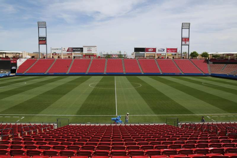 Seating view for Toyota Stadium Section 106 Row 20 Seat 10