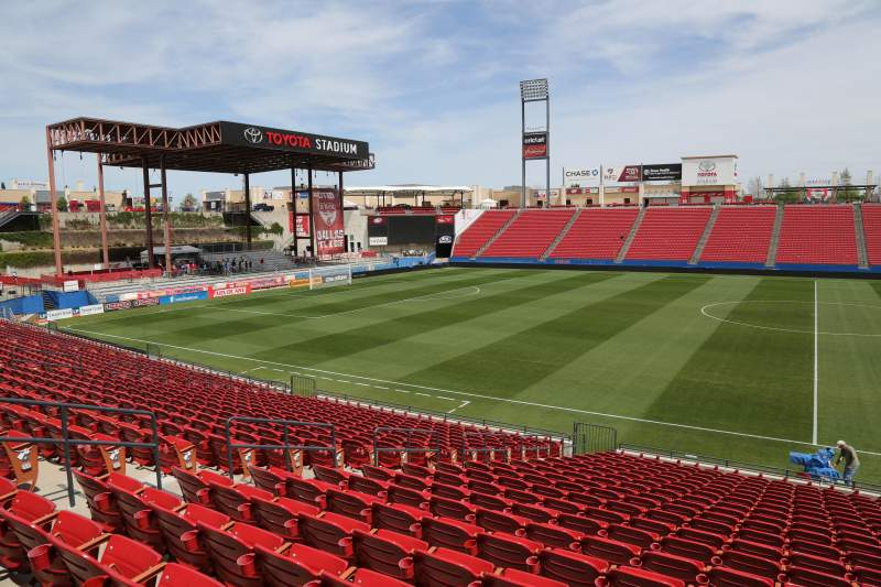 Seating view for Toyota Stadium Section 107 Row 20 Seat 10