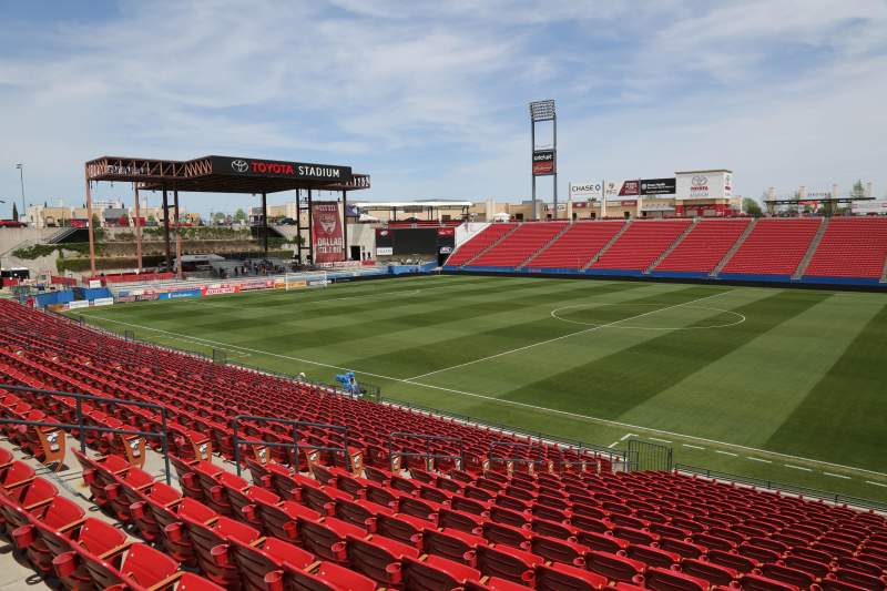 Seating view for Toyota Stadium Section 109 Row 20 Seat 10