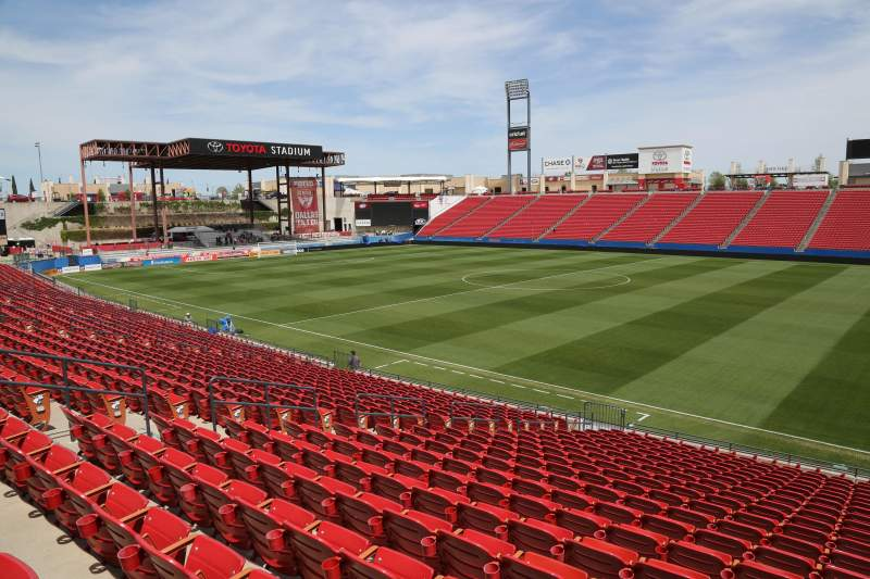 Seating view for Toyota Stadium Section 110 Row 20 Seat 10
