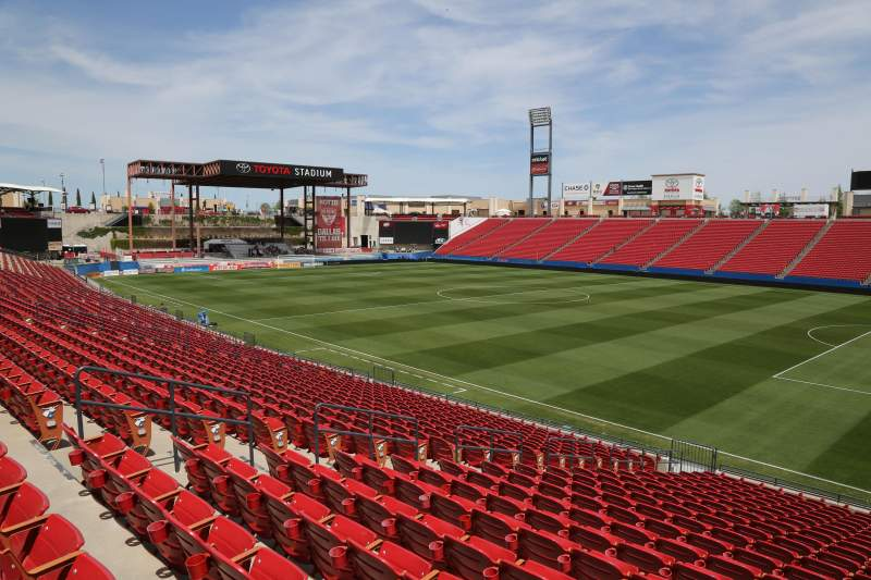 Seating view for Toyota Stadium Section 111 Row 20 Seat 10