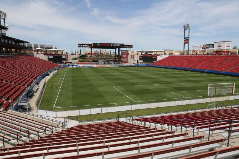 Seating view for Toyota Stadium Section 114 Row 20 Seat 10