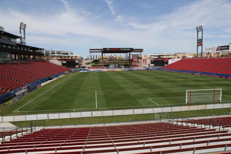 Seating view for Toyota Stadium Section 115 Row 20 Seat 10