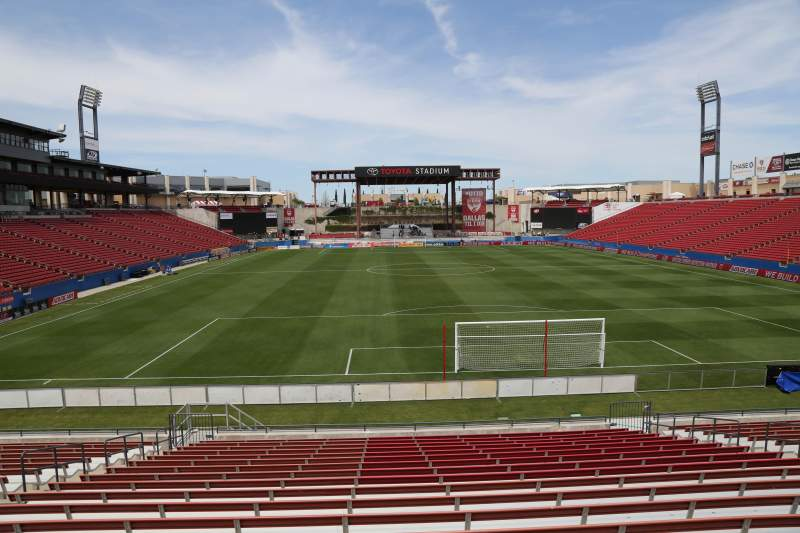 Seating view for Toyota Stadium Section 116 Row 20 Seat 10