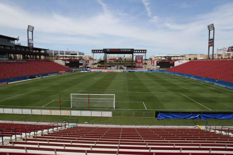 Seating view for Toyota Stadium Section 117 Row 20 Seat 10
