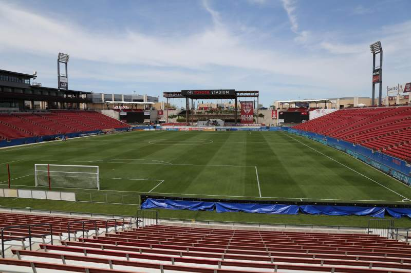Seating view for Toyota Stadium Section 118 Row 20 Seat 10