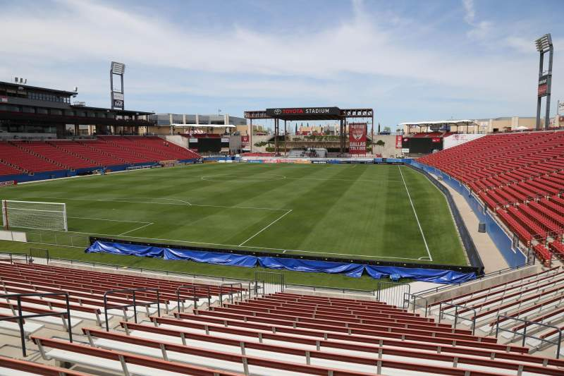 Seating view for Toyota Stadium Section 119 Row 20 Seat 10