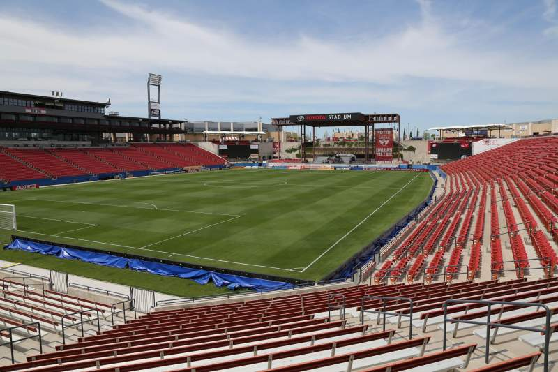Seating view for Toyota Stadium Section 120 Row 20 Seat 10
