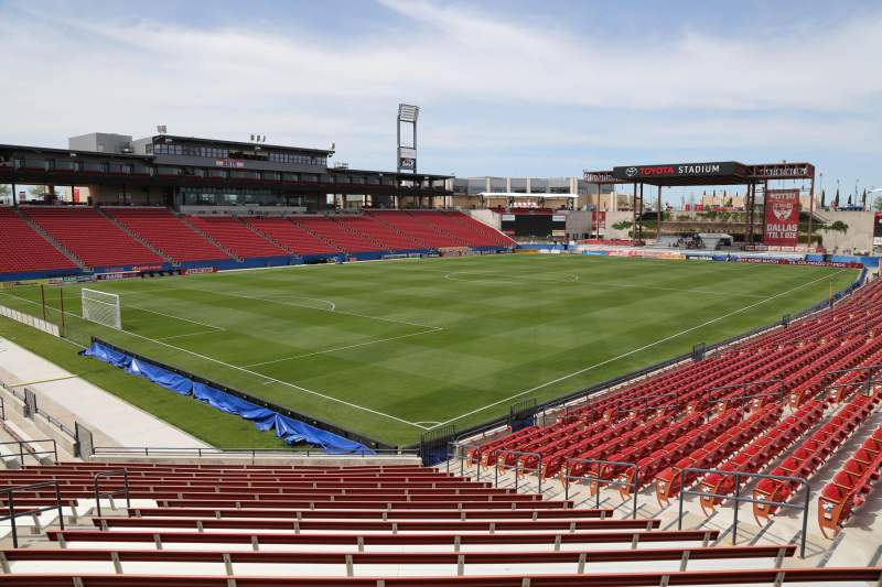 Seating view for Toyota Stadium Section 121 Row 20 Seat 10