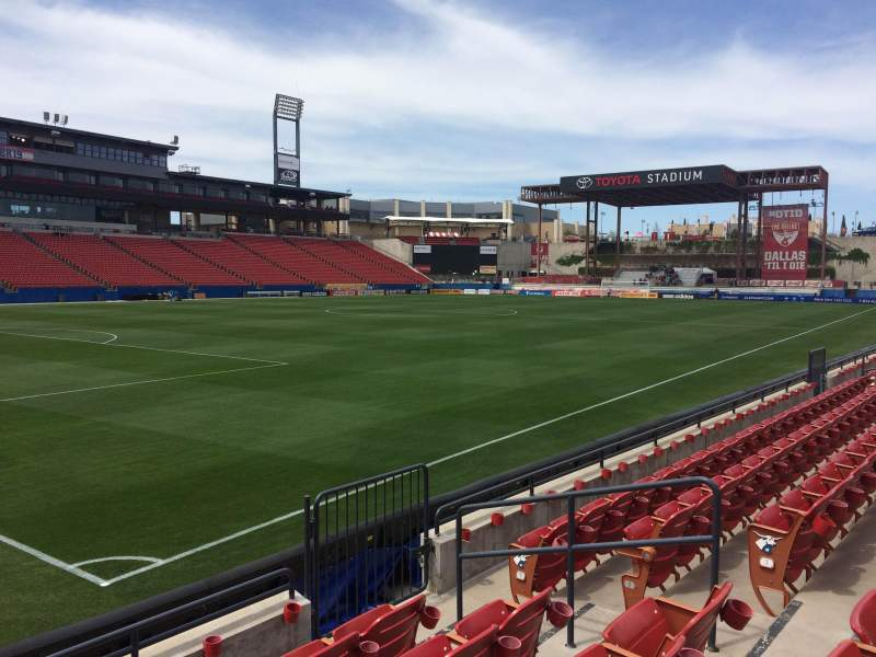Seating view for Toyota Stadium Section 122 Row 5 Seat 19