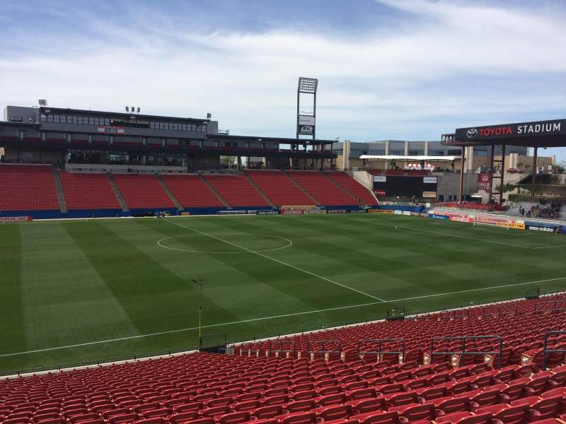 Seating view for Toyota Stadium Section 125 Row 26 Seat 11