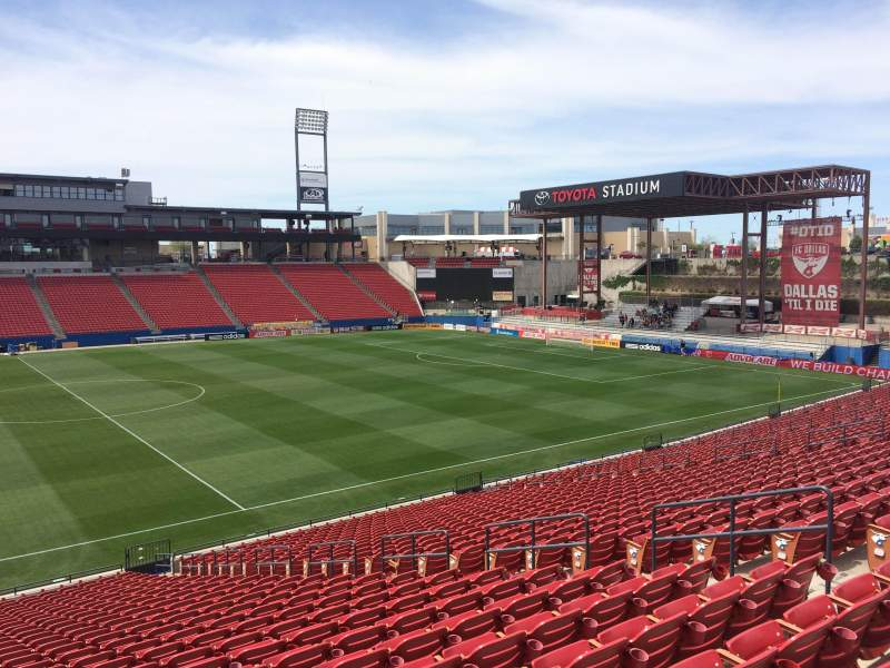 Seating view for Toyota Stadium Section 126 Row 28 Seat 9