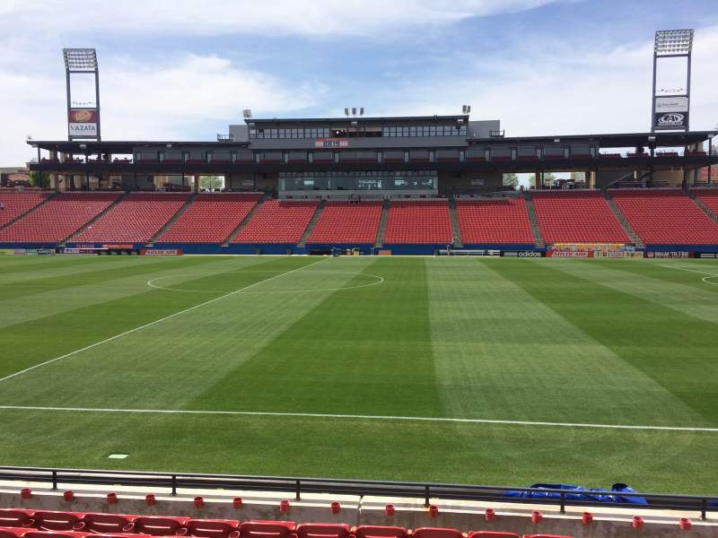 Seating view for Toyota Stadium Section 128 Row 8 Seat 12