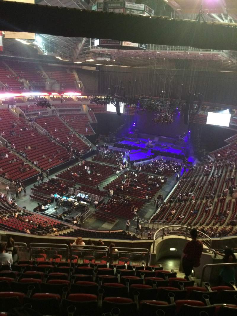 Seating view for KeyArena Section 209 Row 14 Seat 18