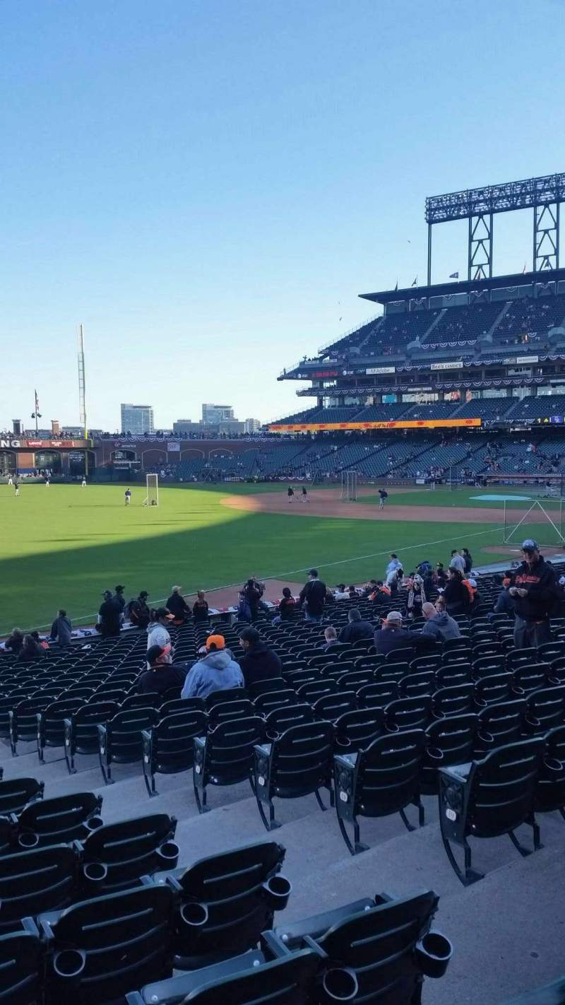 Seating view for AT&T Park Section 131 Row 23 Seat 10
