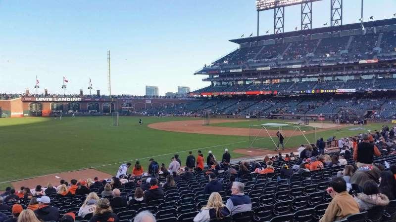 Seating view for AT&T Park Section 129 Row 20 Seat 16