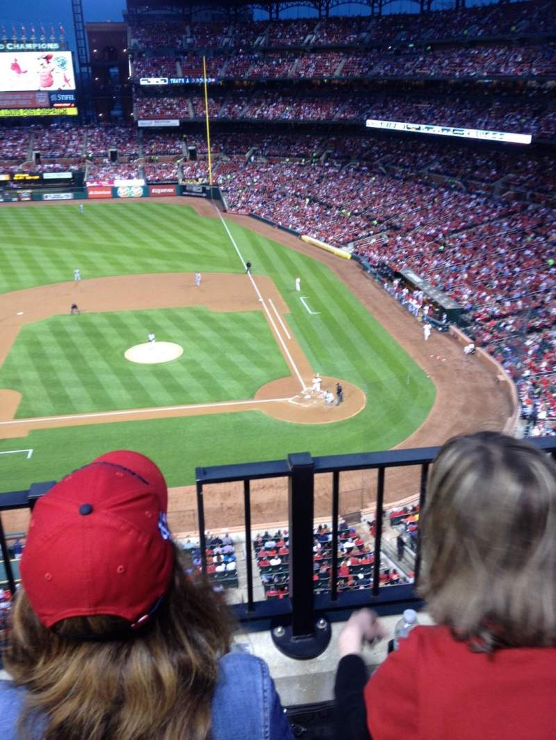 Seating view for Busch Stadium Section 355 Row 2 Seat 9