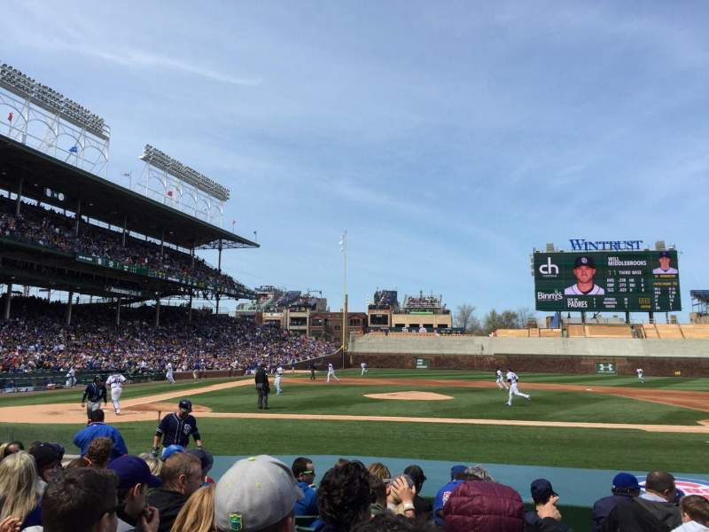 Wrigley Field, section 22, row 12, seat 16 - Chicago Cubs ...