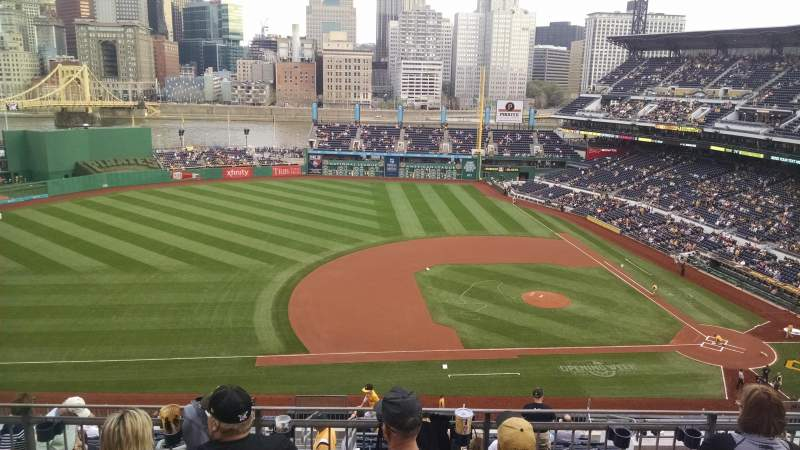 Seating view for PNC Park Section 323 Row h Seat 20